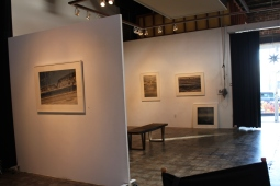 This wall separates the gallery from Ray's work space. Ray and Arnee's various collections are currently on exhibit throughout the gallery.