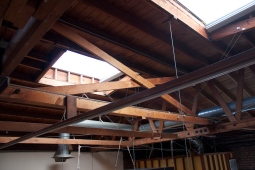 Two extra large skylights were unveiled, letting in tons of natural light.